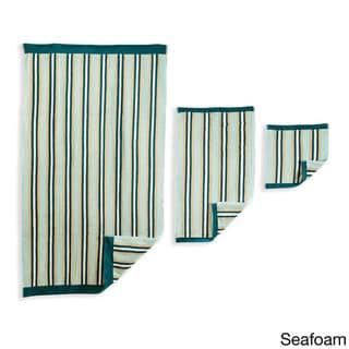 Superior Collection Luxurious Stripes 100-percent Premium Long-staple Combed Cotton 6-piece Towel Set