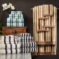 Superior Striped Combed Cotton 6-piece Towel Set
