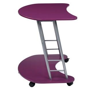 Steel/ Wood Contemporary Rolling Laptop Desk (Option: Purple - Purple Finish)