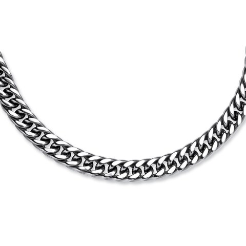 Men's Curb-Link Chain in Stainless Steel 24""