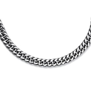PalmBeach Men's Curb-Link Chain in Stainless Steel 24""