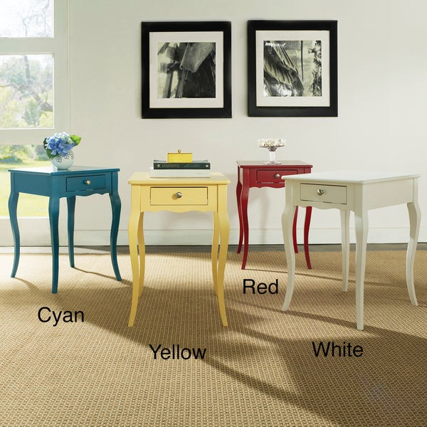INSPIRE Q Shemar 1-drawer Flared Legs Accent Side Table. Opens flyout.
