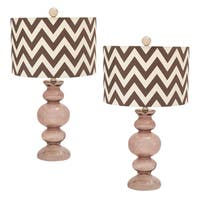 Casa Cortes Chevron Zig-zag 26-inch Artisan Glass Table Lamp - Set of 2