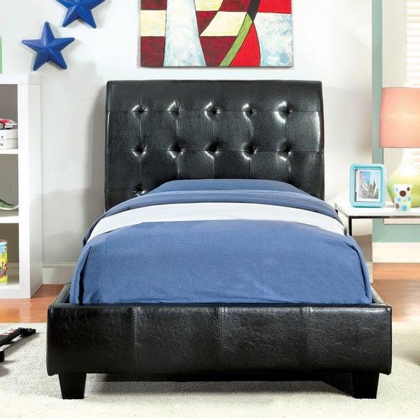 Furniture of America Rova Urban Faux Leather Platform Bed
