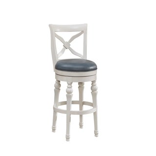 Hadleigh 30-inch White Bar Stool