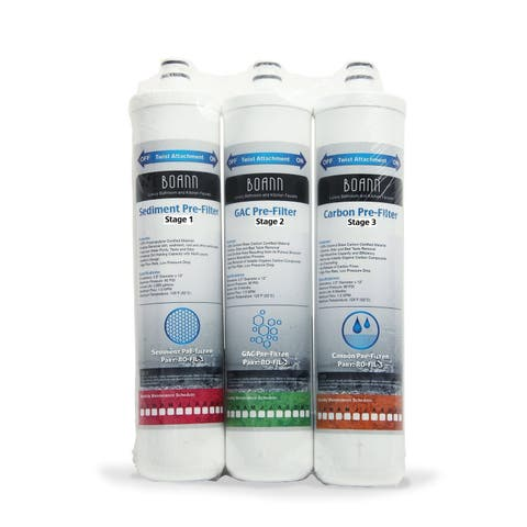 BOANN 6 Month Filter Pack for Reverse Osmosis Water Filtration System