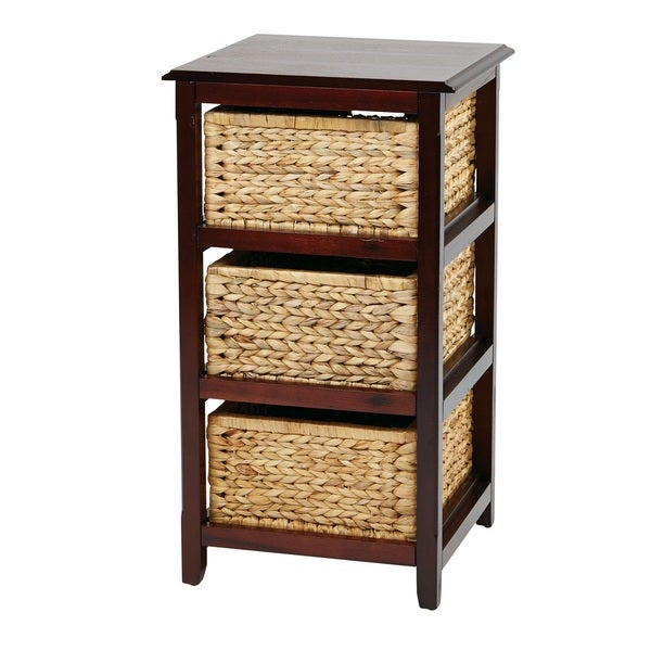 Braided Removable Straw Grass Basket Storage Tower   Free Shipping Today    Overstock.com   16291670