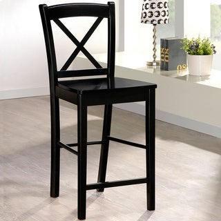 Linon Ready to Assemble Black Counter Height Stool