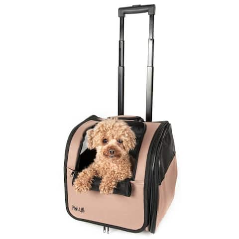 Pet Life Wheeled Travel Pet Carrier - One size