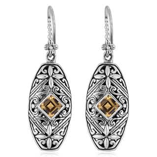 Handmade Sterling Silver Citrine 'Tropical Forest' Dangle Earrings (Indonesia)|https://ak1.ostkcdn.com/images/products/9105115/P16292337.jpg?impolicy=medium