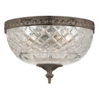 Crystorama Richmond Collection English Bronze Flush Mount