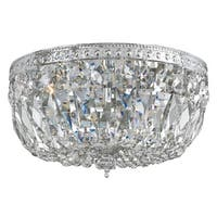 Crystorama Richmond Collection 3-light Chrome Flush Mount