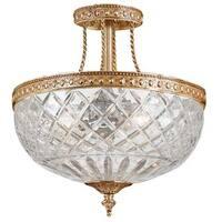 Crystorama Richmond Collection 2-light Olde Brass Semi-flush Mount