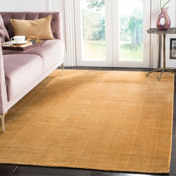 Safavieh Handmade Mirage Modern Old Gold Viscose Rug - 10' x 14'