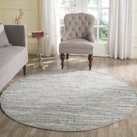 Safavieh Hand-woven Rag Rug Grey Cotton Rug - 6' x 6' Round
