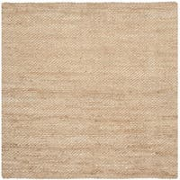 Safavieh Casual Natural Fiber Hand-Woven Natural Jute Rug - 6' x 6' Square