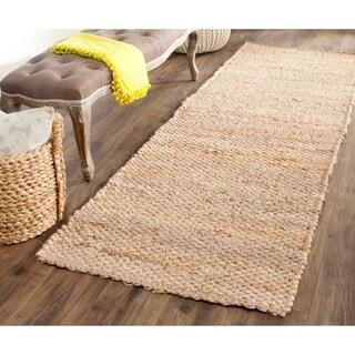 Safavieh Casual Natural Fiber Hand-Woven Natural Jute Rug (2'6 x 10')