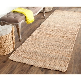 Safavieh Casual Natural Fiber Hand-Woven Natural Jute Rug (2'6 x 12')
