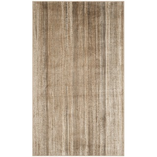 Safavieh Vintage Caramel Abstract Distressed Silky Viscose Rug (5'3 x 7'6)