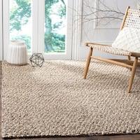 Safavieh Hand-woven Manhattan Grey/ Brown Polyester Rug - 6' x 9'
