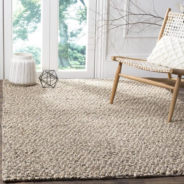 Safavieh Hand-woven Manhattan Grey/ Brown Polyester Rug - 8' x 10'