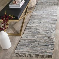 Safavieh Hand-woven Rag Rug Grey Cotton Rug - 2'3 x 6'