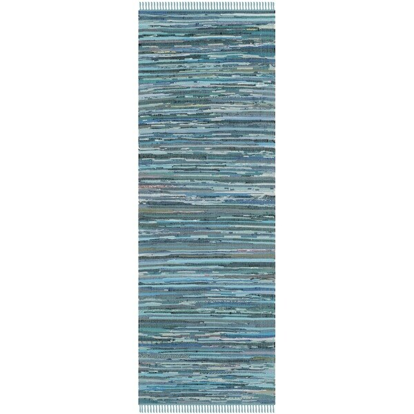 Safavieh Hand Woven Rag Rug Blue Cotton Rug 2 3 X 6