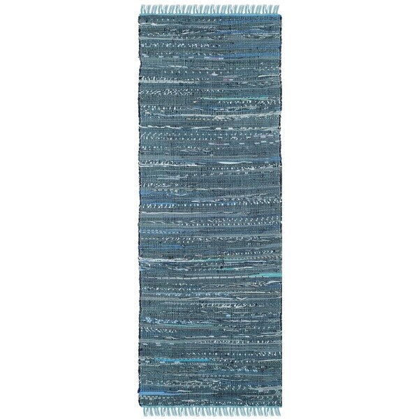 Safavieh Hand Woven Rag Rug Blue Cotton Rug 2 3 X 7