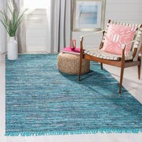 Safavieh Hand-woven Rag Rug Blue Cotton Rug - 2'6 x 4'