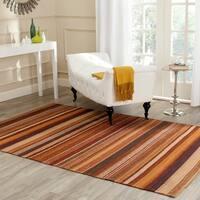 Safavieh Hand-knotted Kilim Rust Wool Rug (4' x 6')