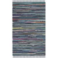 Safavieh Hand-woven Rag Rug Ink Cotton Rug - 2'6 x 4'