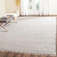Safavieh Hand-woven Rag Rug Ivory Cotton Rug - 4' x 6'