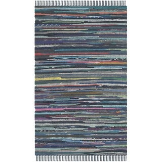 Safavieh Hand-woven Rag Rug Ink Cotton Rug (2' x 3')