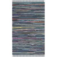 Safavieh Hand-woven Rag Rug Ink Cotton Rug - 2' x 3'