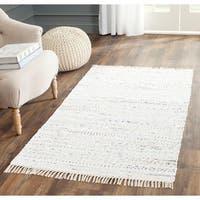 Safavieh Hand-woven Rag Rug Ivory Cotton Rug - 3' x 5'