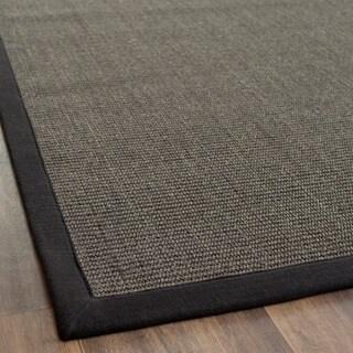 Safavieh Casual Natural Fiber Charcoal and Charcoal Border Sisal Rug (2' x 3')