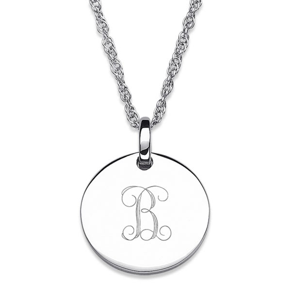 Sterling silver petite engraved initial pendant necklace free sterling silver petite engraved initial pendant necklace aloadofball Images