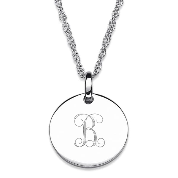 Shop sterling silver petite engraved initial pendant necklace free sterling silver petite engraved initial pendant necklace aloadofball Gallery