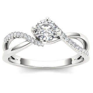 De Couer 10k Gold 1/2ct TDW Diamond Engagement Ring