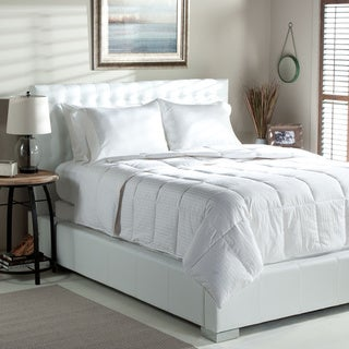 Tommy Bahama Stripe Oversized Lightweight White Goose Down Comforter