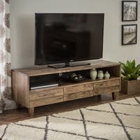 Stones & Stripes Venetian 3-drawer Brown/Grey Entertainment Center