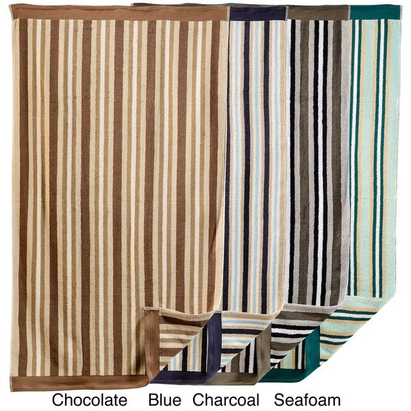 Superior Stripe Cotton Bath Sheet (Set of 2)