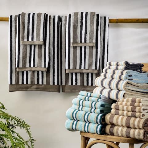 Miranda Haus Stripe Cotton Bath Towel (Set of 2) - N/A