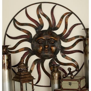Studio 350 Metal Sun Wall Decor 36 inches D