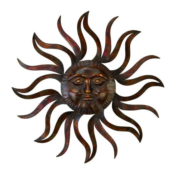 Bon Metal Sun Wall Decor