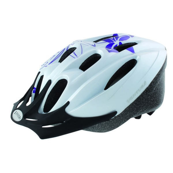 White Flower Sport Helmet