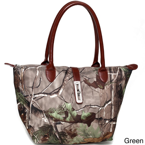 Shop Realtree Camouflage Tote Bag With Twist Lock Accent