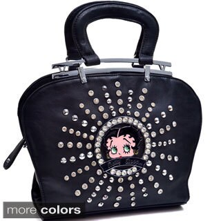Betty Boop Rhinestone and Studs Shoulder Bag