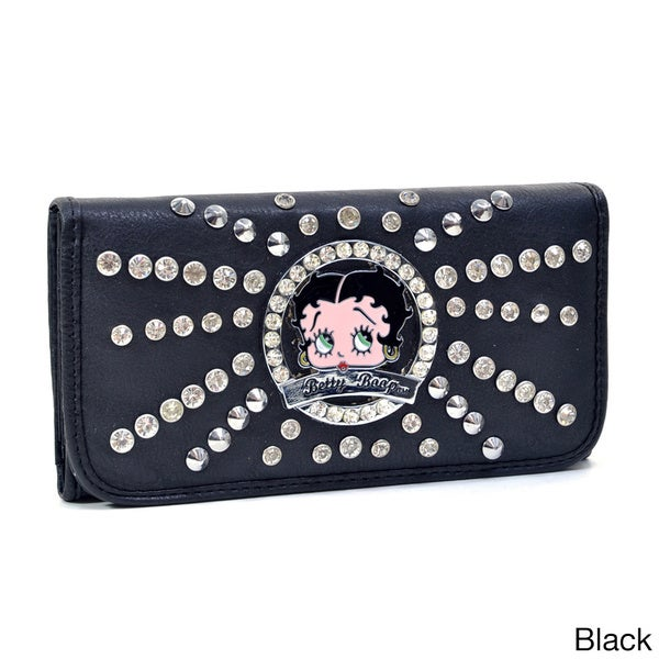 Women/'s Wallet//Checkbook Holder New Very Detailed Betty Boop Licensed