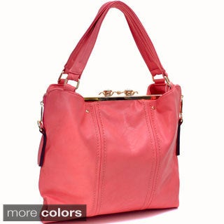 Jewel Snap-close Clutch Combo Tote Bag